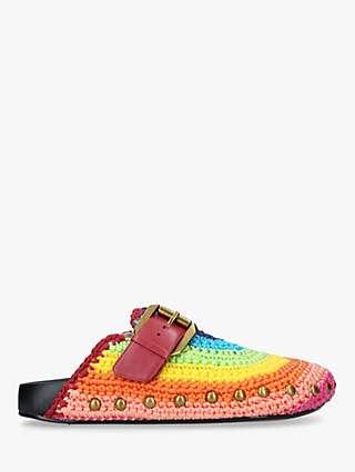 Kurt Geiger London Ozark Rainbow Crochet Clogs, Multi