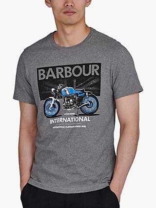 Barbour International Greenwood T-Shirt, Anthracite Marl