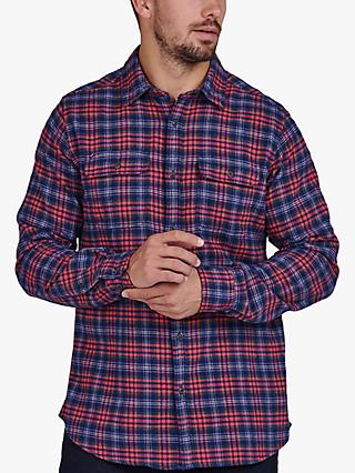 Barbour International Rock Check Shirt, Sunbleached Red