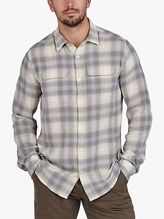 Barbour International Hoggan Check Shirt, Whisper White
