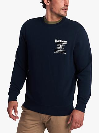 Barbour Lifestyle Reed Crew Print Sweatshirt