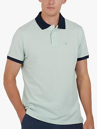 Barbour Lifestyle Lynton Contrast Polo Shirt, Surf Spray