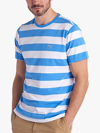 Barbour Lifestyle Beach Stripe T-Shirt, Colorado Blue