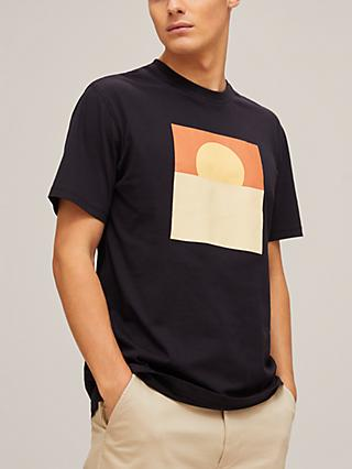 Far Afield Sunset Graphic T-Shirt, Sunset Blue