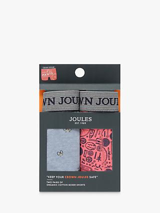 Joules Crown Joules Bike Print Trunks, Pack of 2, Blue/Pink
