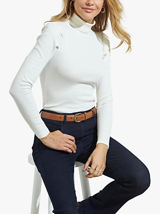 Sosandar Roll Neck Top, Ivory