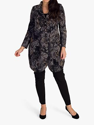 chesca Flock Print Jacket, Charcoal