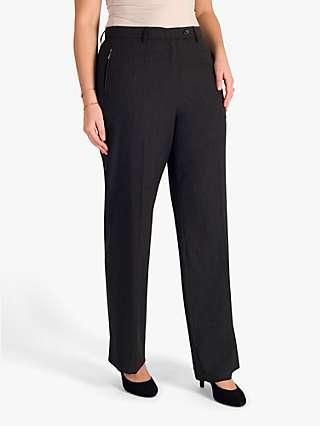 Chesca Zip Pocket Pencil Leg Trousers, Charcoal