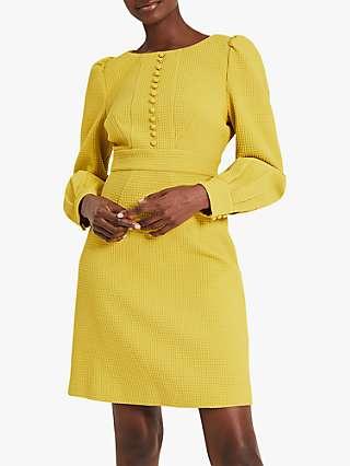 Damsel in a Dress Skye Textured Dress, Mustard