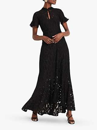 Damsel in a Dress Lulu Floral Lace Maxi Dress, Black