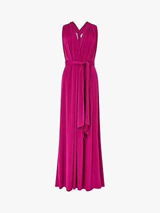 Monsoon Tallulah Multi Tie Dress, Pink