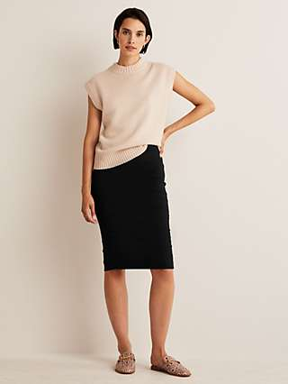 Boden Hampshire Ponte Pencil Skirt, Black