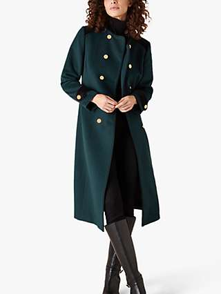 Monsoon Maddie Military Coat, Green