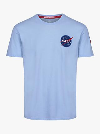 Alpha Industries X NASA Space Shuttle Logo Crew Neck T-Shirt