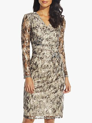 Adrianna Papell Metallic Sheath Dress, Gold