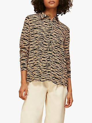 Whistles Tiger Print Blouse, Multi