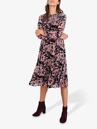 White Stuff Bella Floral Jersey Dress, Pink/Multi