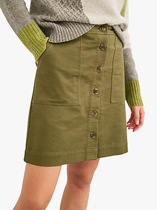 White Stuff Canterbury Twill Skirt, Khaki Green