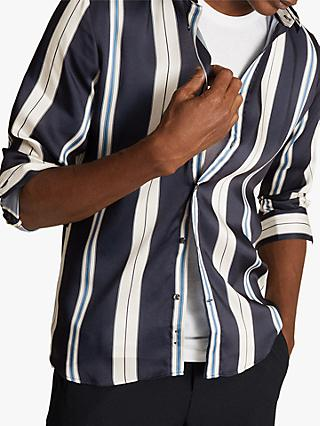 Reiss Fontaine Stripe Shirt, Navy