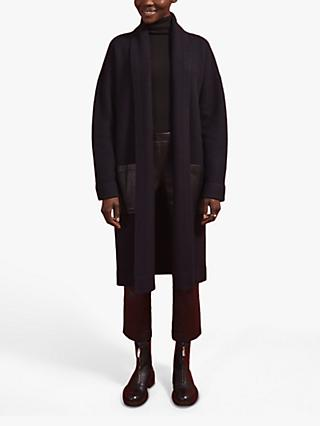 Jigsaw Wool Pocket Coat, Dark Navy