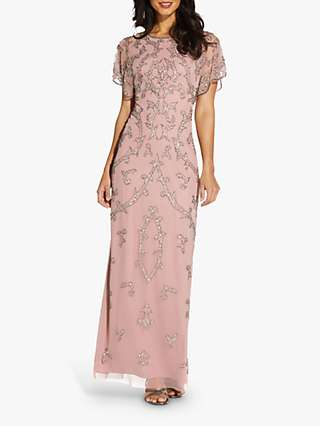 Adrianna Papell Beaded Column Dress, Candied Ginger
