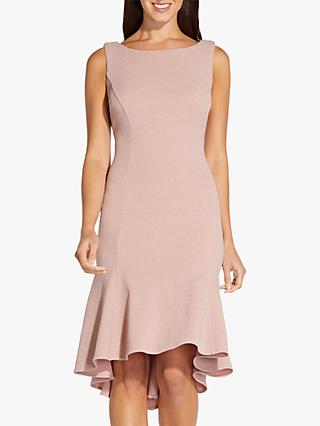 Adrianna Papell Metallic Back Knee Length Dress, Blush