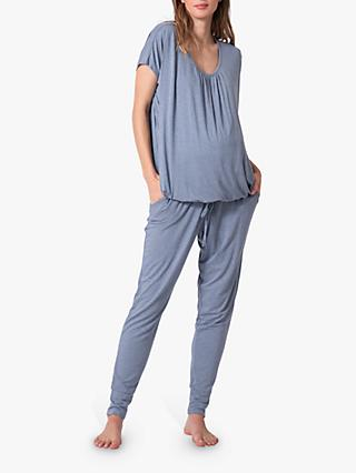 Seraphine Karen Loungewear Maternity Set, Blue