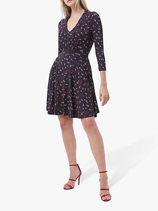 French Connection Chiara Bouquet Dress, Black/Multi