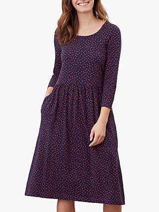 Joules Milana Jersey Dress, Red Spot