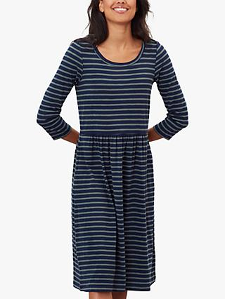 Joules Milana Jersey Dress, Navy Stripe