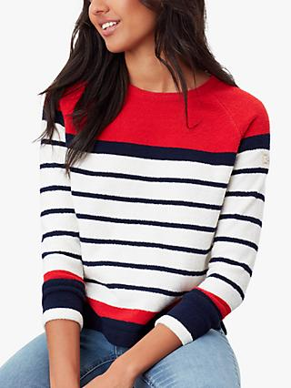 Joules Seaport Roll Jumper, Red Stripe