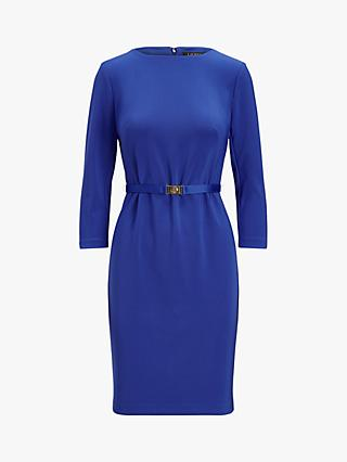 Lauren Ralph Lauren Romee Belted Day Dress, Blue
