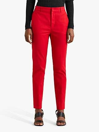 Lauren Ralph Lauren Lakythia Slim Leg Trousers, Lipstick Red