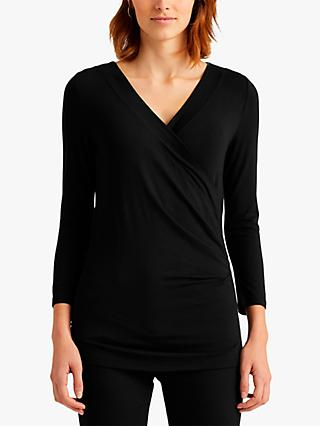 Lauren Ralph Lauren Alayja Wrap Top, Black