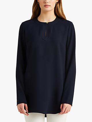 Lauren Ralph Lauren Tariot Georgette Long Sleeve Tunic