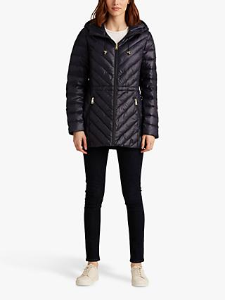 Lauren Ralph Lauren Down Filled Anorak Coat, Navy