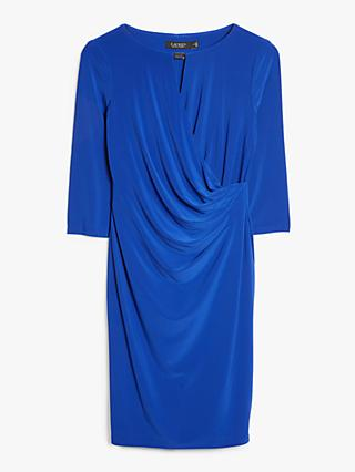 Lauren Ralph Lauren Kelby Wrap Jersey Dress, French Ultramarine