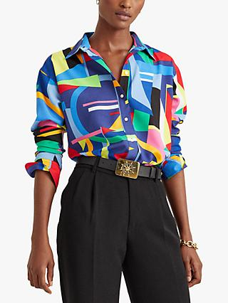 Lauren Ralph Lauren Kotta Long Sleeve Abstract Shirt, Multi