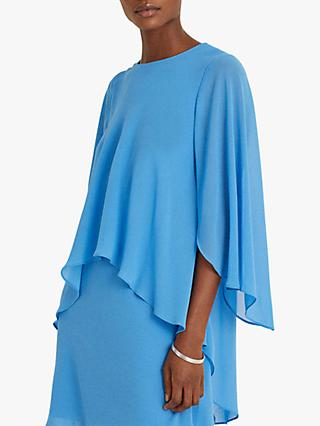 Lauren Ralph Lauren Cassie Elbow Sleeve Mini Dress, Blue