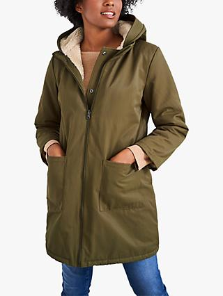 White Stuff Bellray Reversible Parka, Mid Green