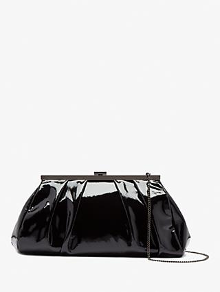 Jigsaw Beaumont Shiny Leather Clutch Bag