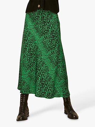 Whistles Mixed Animal Print Skirt