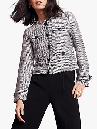 The Fold Sackwille Tweed Jacket, Black/White