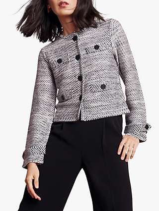 The Fold Sackwille Tweed Jacket, Black/White