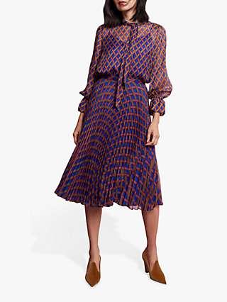 The Fold Emery Silk Blouse, Multi