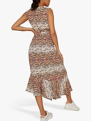 Chi Chi London Mary Animal Print Midi Dress, Brown