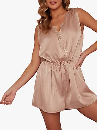Chi Chi London Alex Sleep Playsuit, Champagne
