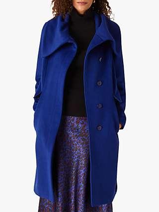 Monsoon Keryn Belted Coat, Cobalt