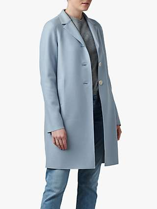 Harris Wharf London Button Up Boxy Wool Coat