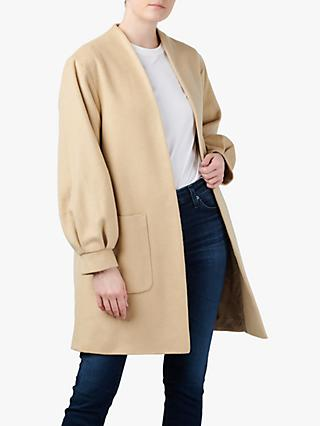 Helene For Denim Wardrobe Balloon Sleeve Coat, Natural